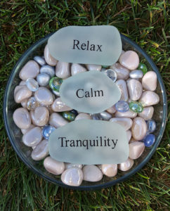 Pebbles and Worry Stones comforting anxious children