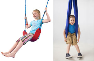 swings are good for comforting anxious children