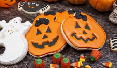 Haloween cookies and candies