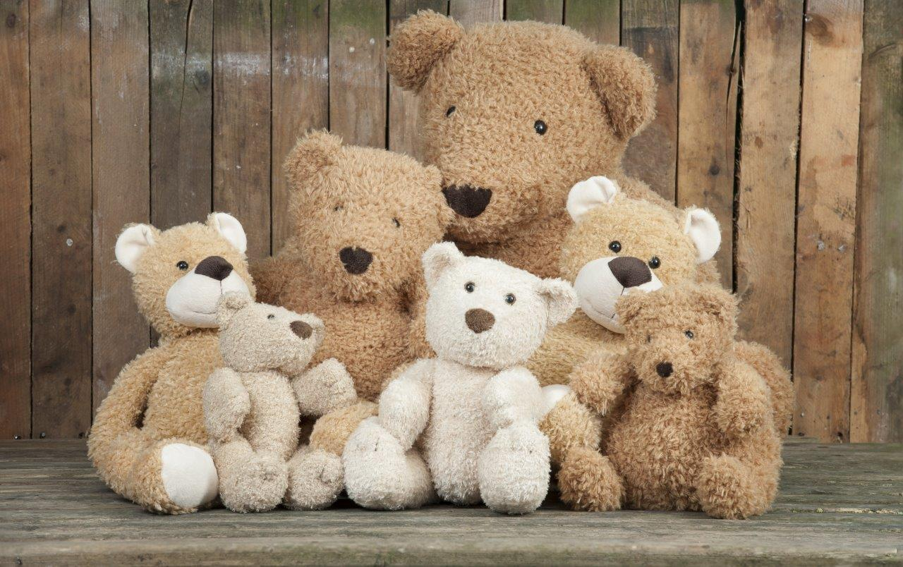 Teddy bears comforting anxious children